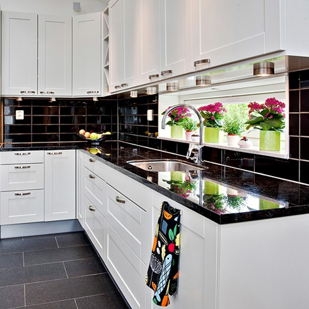 decorating with white living spaces interiors black and white kitchen