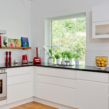 decorating with white living spaces interiors kitchen with colourful accessories