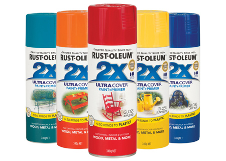 Rust-Oleum 2X spray paint colours