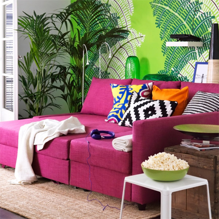 add instant colour to your home interior