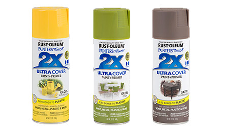 add instant colour with Rustoleum spray paint