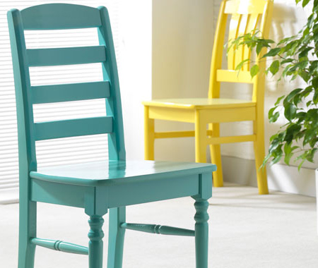 rustoleum colourful spray paint for dining chairs