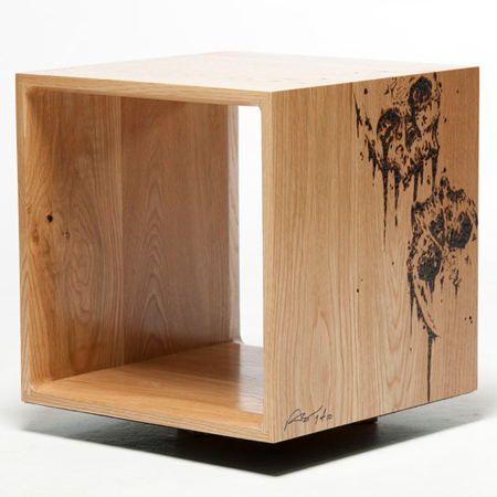 Wood Cubes Furniture In Take Basic Cube To New Level By Creating Your Own Contemporary Furniture Basic Wood Cubes Are Mounted On Base And Designs Added Create Home Dzine Home Diy How Make Modular Furniture