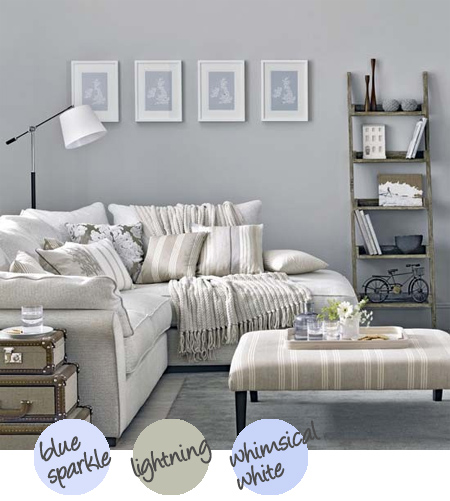 Decorate with shades of grey with a hint of blue or green