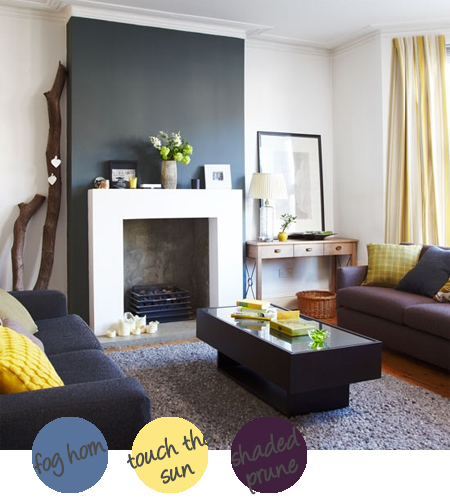 Decorate with shades of grey and bold colours