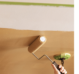 Paint a ceiling with metallic gold