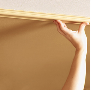 Paint a metallic ceiling  with plascon gold metallic