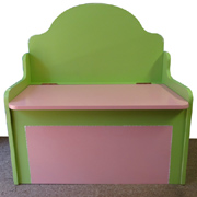 Storage bench that's also a toy box