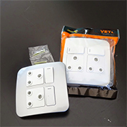 Convert single power socket to double or fit modern cover plate