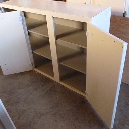 reclaimed recycled kitchen wall cabinets for home office or work centre