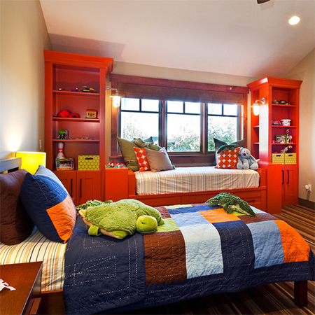 HOME DZINE Bedrooms | Colourful bedrooms for kids on rust rugs, rust dining room, rust baby bedding, rust bathroom, rust sofa decorating,