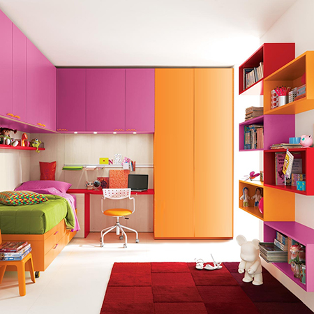 . HOME DZINE Bedrooms   Colourful bedrooms for kids