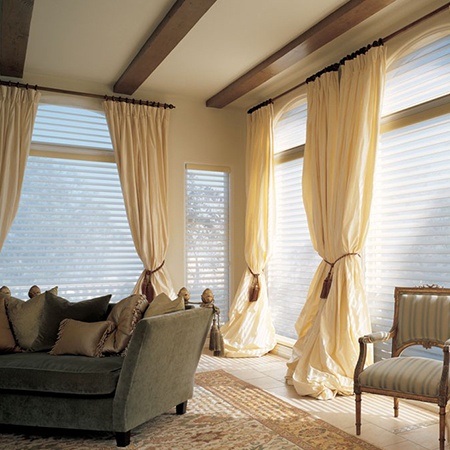 thick canvas or bull denin curtains keep a home warm in winter