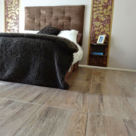 tile africa wood-look tiles imprinted with wood grain design diy installation tile bedroom floor