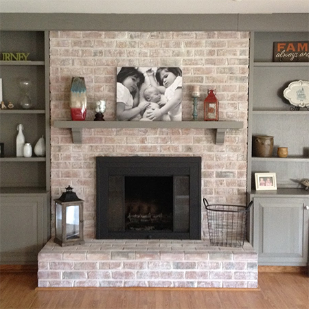 Home dzine home improvement revamp or makeover a fireplace paint fireplace with whitewash and rust oleum high heat spray eventshaper