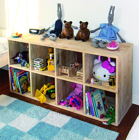 HOME DZINE Home DIY | DIY storage unit for children\'s bedroom