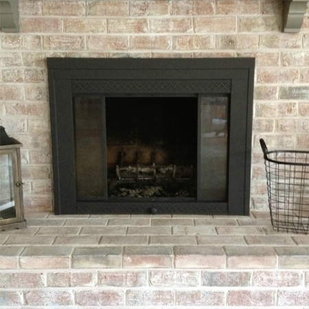 paint brick or metal fireplace surround with rust oleum high heat. Black Bedroom Furniture Sets. Home Design Ideas