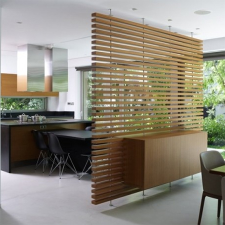 Wood Beam Room Divider Partition For Open Plan Living Space