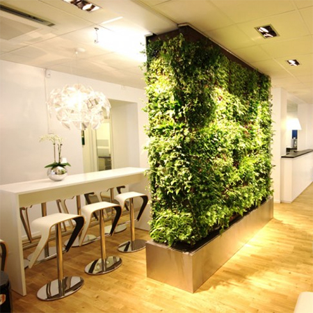 Living Room Divider Partition With Vertical Garden