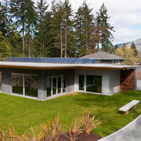 damon gray tilt up sandwich concrete construction home that is energy efficient