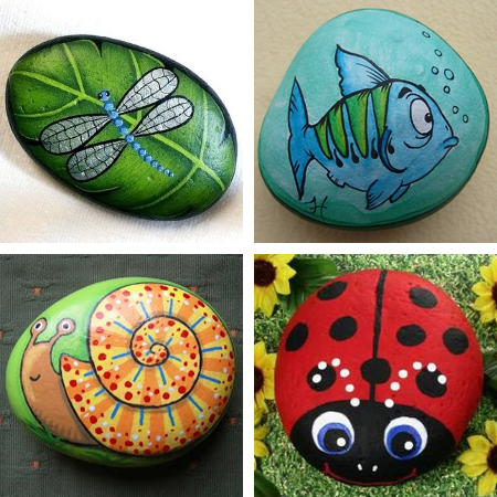Home dzine craft ideas have fun with painted pebbles for River rock craft ideas