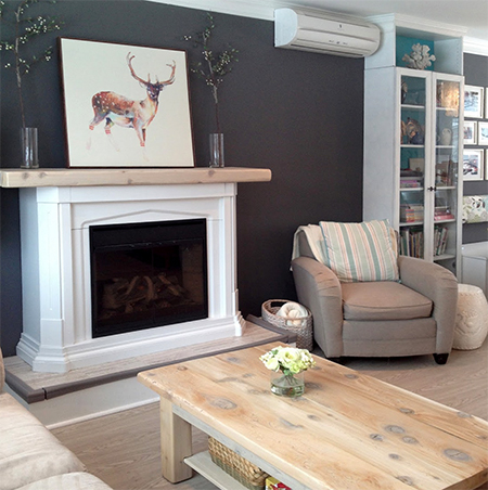 HOME DZINE Home Improvement | Fireplace surround for electric or ...