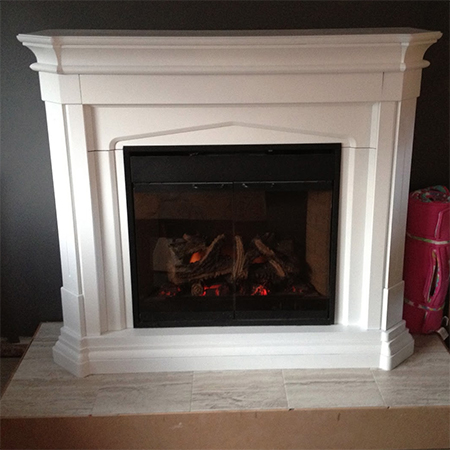 make fireplace surround and shelf for gas or electric fire