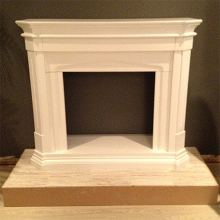 build fireplace surround with mantel shelf for gas or electric fire