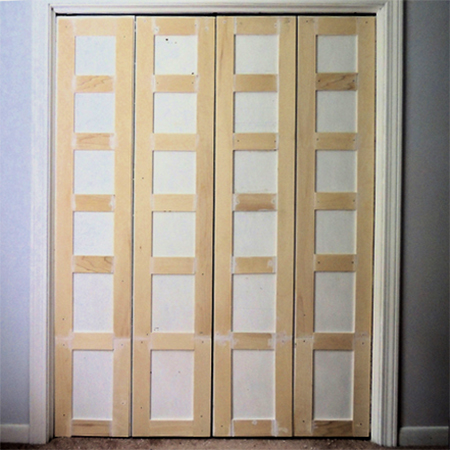 add pine or supawood moulding to built in cupboard closet doors & HOME DZINE Bedrooms | Revamp built-in bedroom cupboard or closet doors