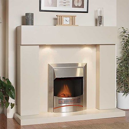 create unique freestanding fireplace surround