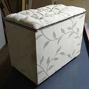 Cheat's diamond-tufted ottoman