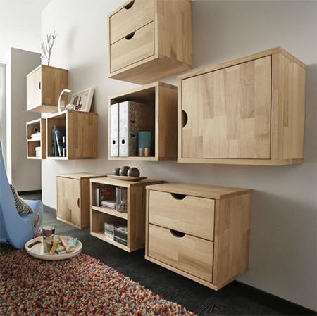Basic wood cubes make stunning modular storage units & HOME DZINE Home DIY | Basic wood cubes make stunning modular storage ...