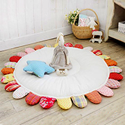 Make a cute and comfy baby mat