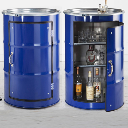 HOME DZINE Craft Ideas Oil Barrels Turned Into Cabinets