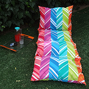 Easy fabric sun lounger