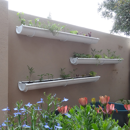 make build vegetable or herb gutter garden