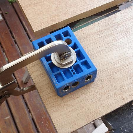 kreg pockethole jig for joining boards together or furniture making