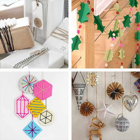 Christmas Decor Ideas On A Budget Scandinavian Style Paper Crafts