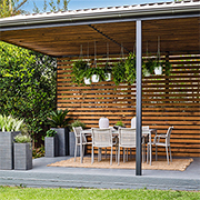 Turn a carport into a stylish patio