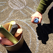 Giant chalk sticks for kids
