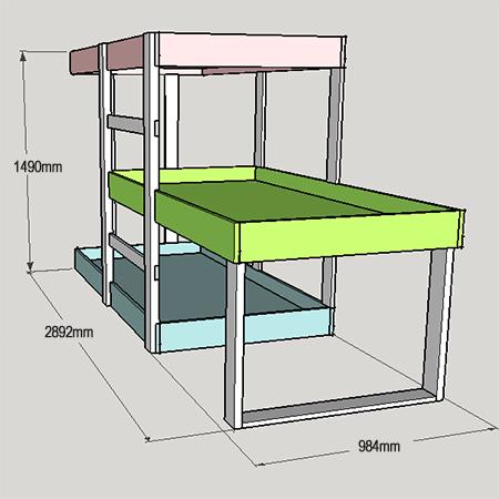 Home Dzine Home Diy Diy 3 Level Bunk Beds