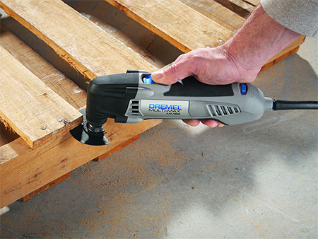 Make a reclaimed wood table dremel multimax