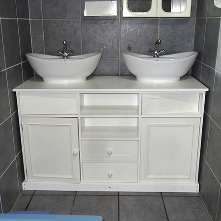 Home dzine bathrooms install his and hers vanity basins for His and hers bathroom