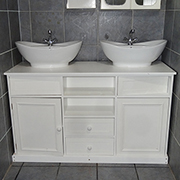 His and Hers double vanity bathroom cabinet