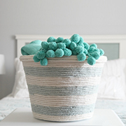 Rope wrapped storage basket
