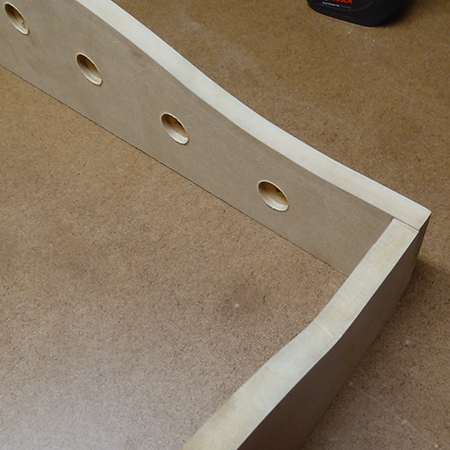 DIY pull-out trouser rack
