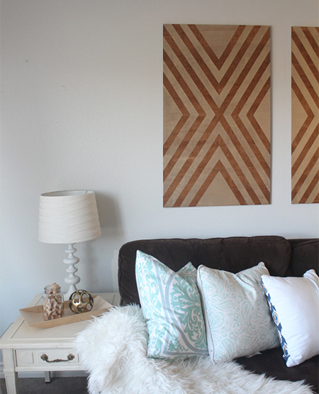Make your own chevron wall art