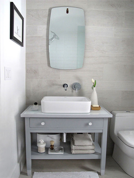 Home Dzine Bathrooms Re Purpose An Old Desk Into A