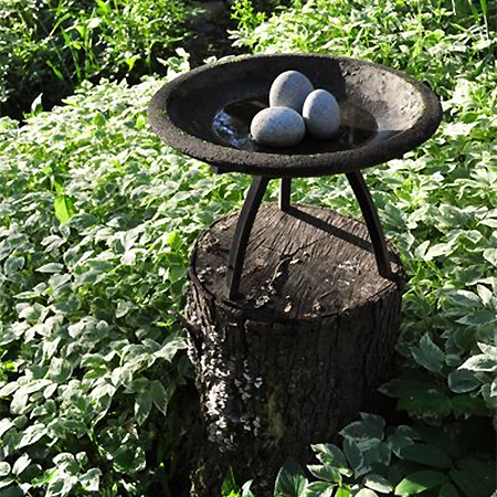 What to do with a tree stump bird waterbath