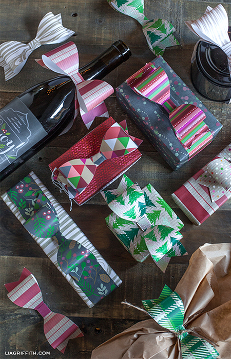 paper bows party christmas festive decorations